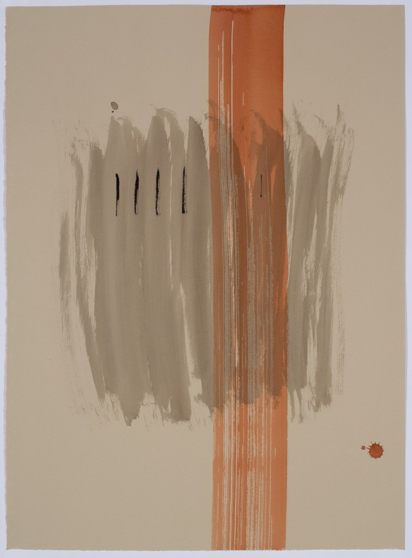 "Jim Chute ~ ""Untitled (2015)"" (acrylic and sumi inks on BFK Rives paper"