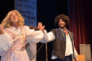 Christopher Hoffmann and Keith Anctil as Juliet and Romeo in the Complete Works of Wm Shakespeare (abridged) [revised]