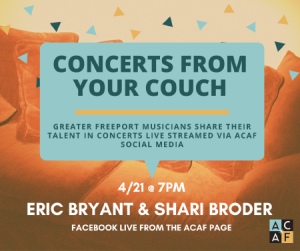 Concerts from your Couch: Eric Bryant & Shari Broder