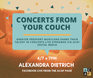 Concert from your Couch: Alexandra Dietrich