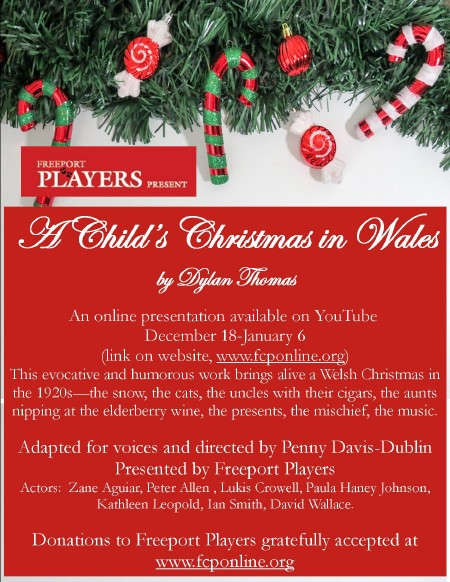 A Child's Christmas in Wales, presented by Freeport Players